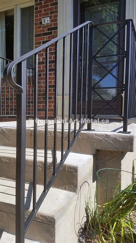 Outside Banister Railings by Exterior Railings Handrails For Stairs Porches Decks