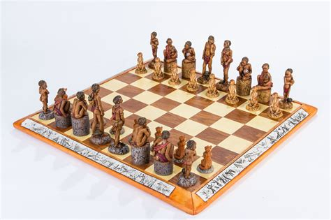 interesting chess sets bushmen chess set 187 kumbula shop
