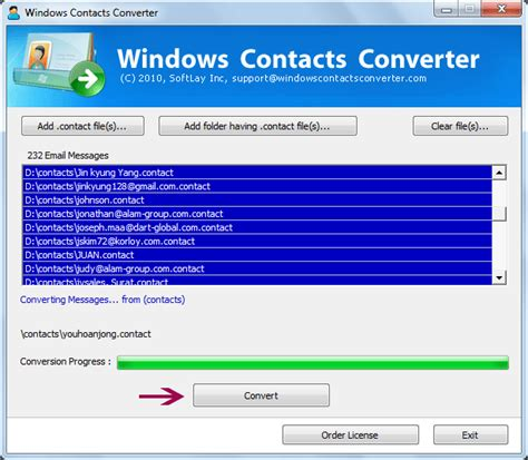 contact format converter convert contacts to vcf format shareware version 3 0 by