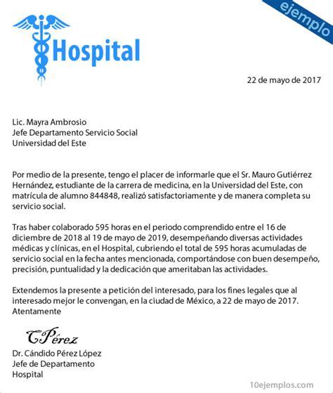 carta formal termino de contrato ejemplos de carta terminaci 243 n de servicio social