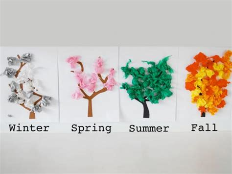 tree pattern for preschool craft diy four seasons trees family time magazine