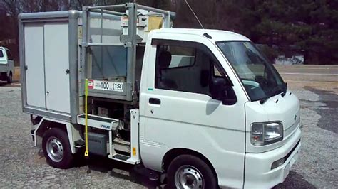 mitsubishi mini truck lifted japanese mini truck with lift box youtube