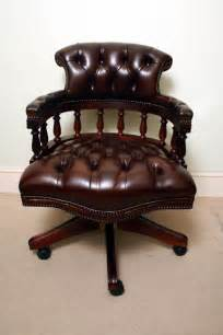Swivel Chairs Upholstered - english hand made leather captains desk chair