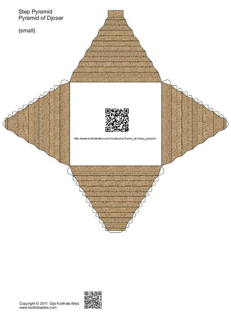 How To Make An Pyramid Out Of Paper - paper step pyramid pyramid of djoser