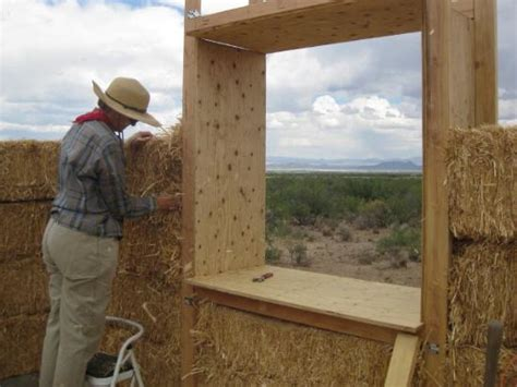 Straw Bale Building Window And Door Bucks Straw Bale Garden Wall