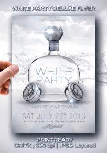 white party deluxe flyer flyer template party flyer and