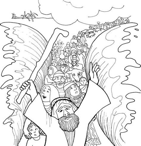 printable coloring pages exodus moses cloroing pages moses moses and his people