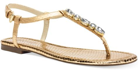 michael kors gold flat shoes michael kors michael jeweled flat sandals in
