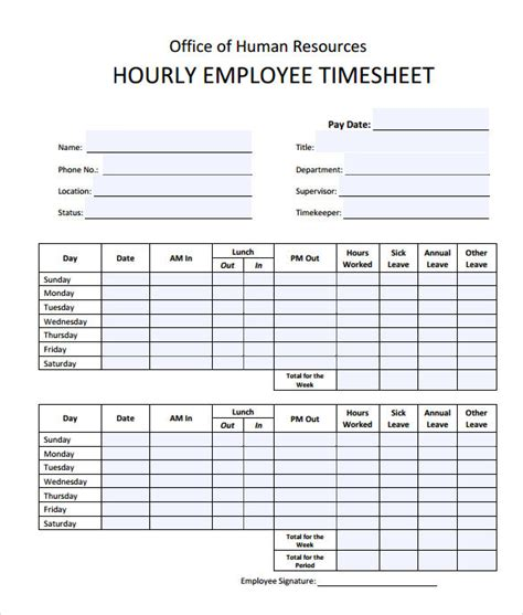printable timesheet calculator sle timesheet calculator 8 documents in pdf