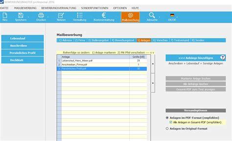 Bewerbung Erstellen Programm Bewerbungsmaster Programm F 252 R Die Optimale Bewerbung
