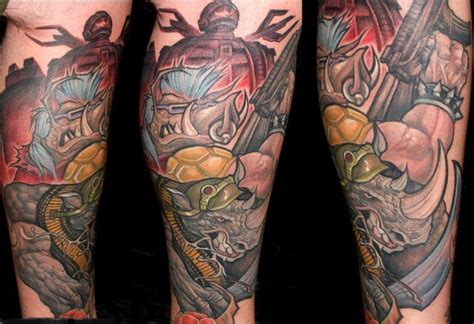 rock steady and bebop tmnt by mike boissoneault tattoonow