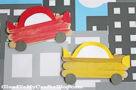 car craft for popsicle stick cars kid craft glued to my crafts