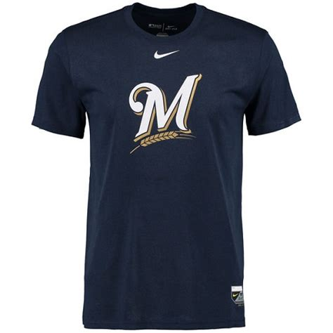 Hoodie Logo Putih Milwaukee Navy milwaukee brewers authentic collection legend logo 1 5 performance t shirt navy brewers store