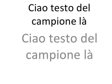 ciao ciao testo ciao testo cione l 224 italian