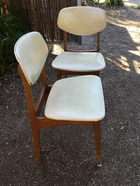 Australian Made Dining Chairs Pair Retro Vintage Australian Made Vinyl Teak Cro Dining Kitchen Chairs The Antique Store