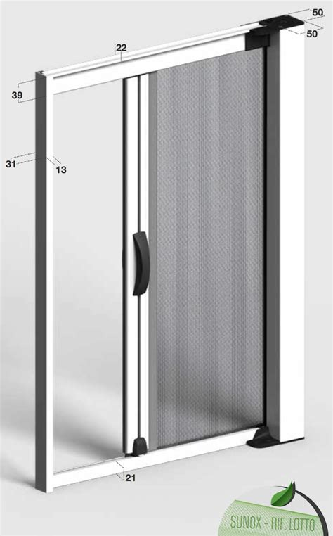 chiusura a molla per porte zanzariera su misura quadra laterale con chiusura