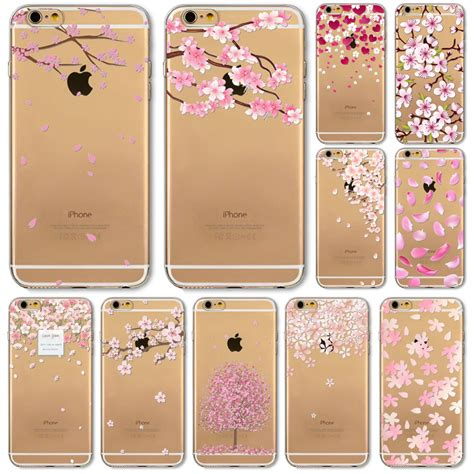 Casing Bunga Iphone 6 6s Softcase Flowers Slim Clear Iphone6 ᑐfor iphone 6 ᐃ 6s 6s 5 5s se pink print flora flower phone cases soft tpu clear
