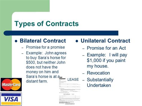 exle of unilateral contract quiz on contracts contract formation ppt