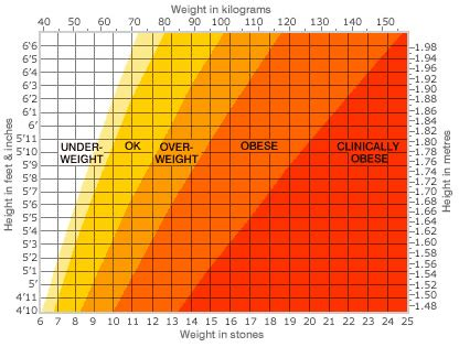 The Weight Is by Height And Weight Charts Health Info