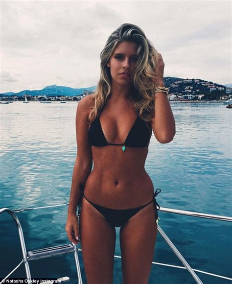 Bikini Blogger bikini blogger natasha oakley in skinny jeans and biker jacket in australia for swimwear