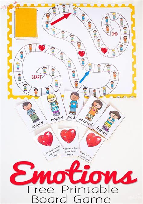 printable learning games free printable emotions board game free printable