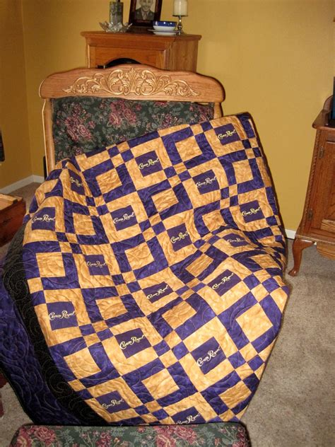 How To Make A Crown Royal Bag Quilt by Crown Royal Quilt Made From Your Bags