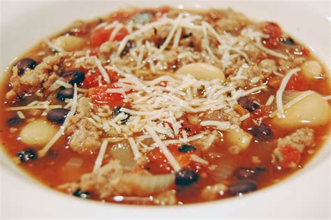 italian soup bean and sausage soup recipe dishmaps