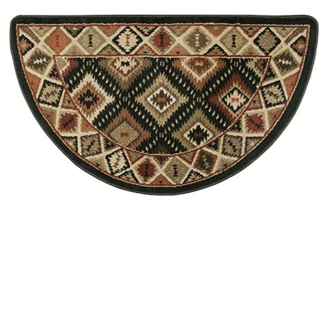 half rugs sale goods of the woods half olefin hearth rug with southwest pattern 25 inch x 42 inch