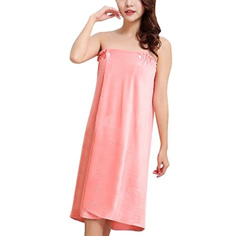 Syarina Pink Soft Abu Dress Bruklat bath skirt wearable soft water absorbent spa bath towel dress
