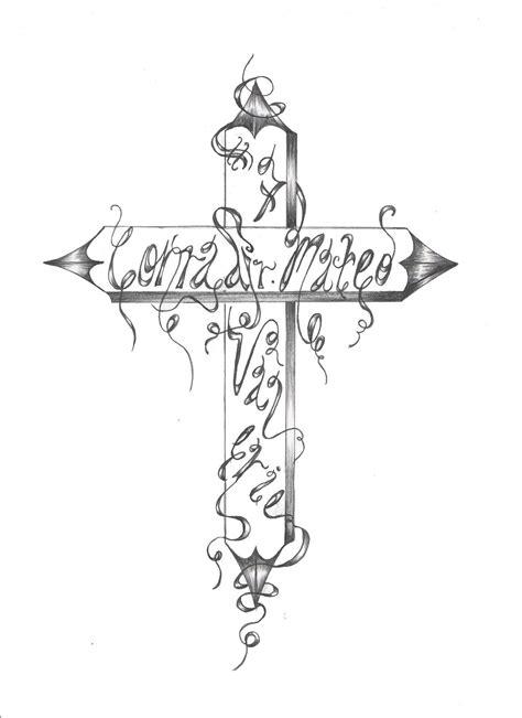 cross with vines tattoo nicholls a painter custom designer