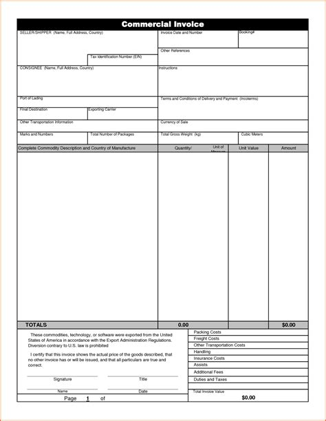 Invoice Letter Template Exle Commercial Invoice Sle Excel Invoice Template Ideas