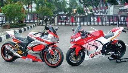 modifikasi kawasaki r 250 duo maut ninjais riau modifikasi motor 2012 gambar foto