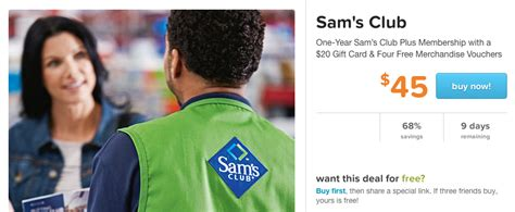 Sam Club Membership 20 Gift Card - sam s club one year membership 20 gift card free food vouchers 45 142 value
