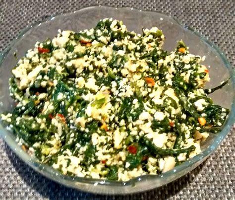 cook with priyanka palak paneer bhurji scrambled spinach