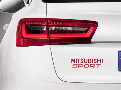 1 Set Sticker Stiker Mitsubishi Pajero 1 x mitsubishi sports sticker for trunk indecals