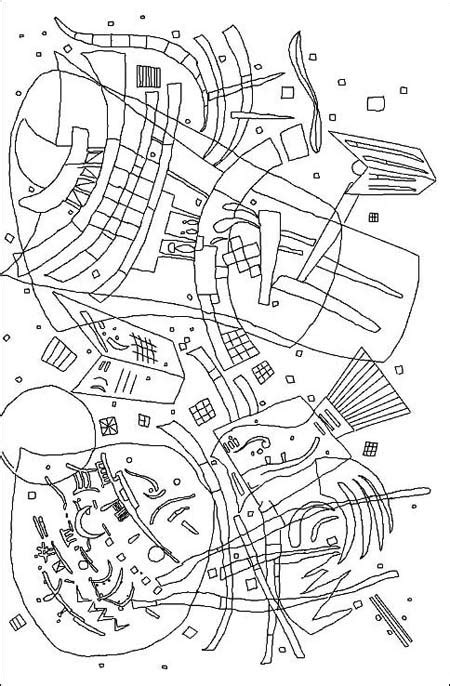 wassily kandinsky coloring pages