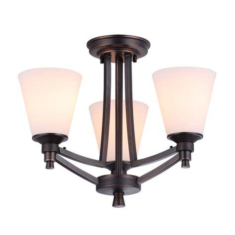 Dvi Lighting Fixtures Dvi Lighting Dvp7203orb Op Rubbed Bronze With Half Opal Glass Georgetown Three Light Semi
