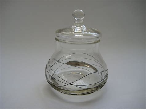 decorative glass jar with a lid one offs