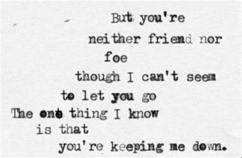 Fed Ex Cant Seem To Let Go by Bareilles Gravity But You Re Neither Friend Nor