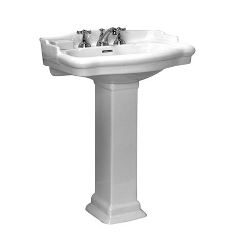stanford white 4 inch spread pedestal sink barclay