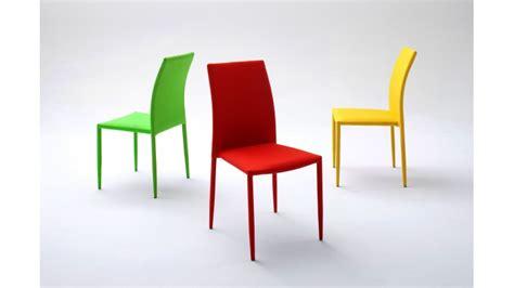 chaise design en tissu acrylique de couleur