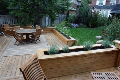 deck benches with planters deck bench and railings google search deck bench