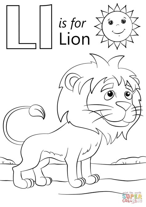Alphabet L Coloring Pages by L Is For Coloring Page Free Printable Coloring Pages