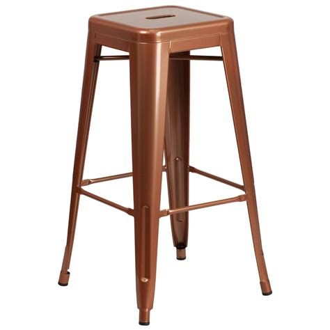 Copper Counter Stool by Flash Furniture 30 In Copper Bar Stool Etbt350330poc