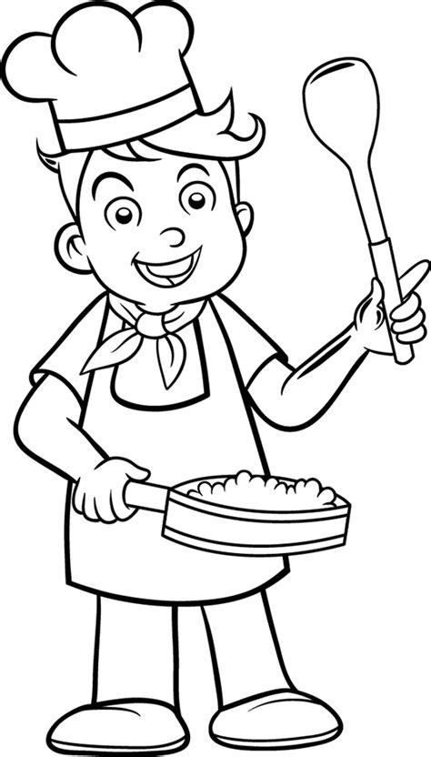 dessin de cuisine à imprimer coloriage cuisinier les beaux dessins de personnages 224