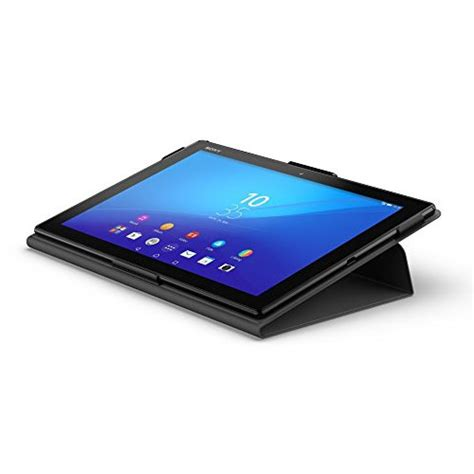 Flip Cover Tablet Advan T5c new official sony xperia z4 tablet flip folio style cover stand scr32 black ebay