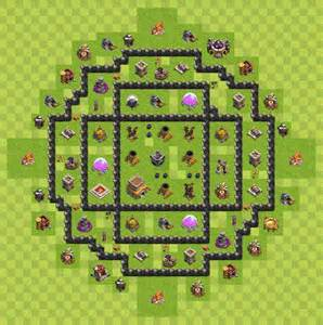 Clash of clan base layouts town hall level 7 war base 2p