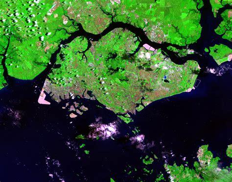 singapore map satellite view singapore earthshots satellite images of environmental