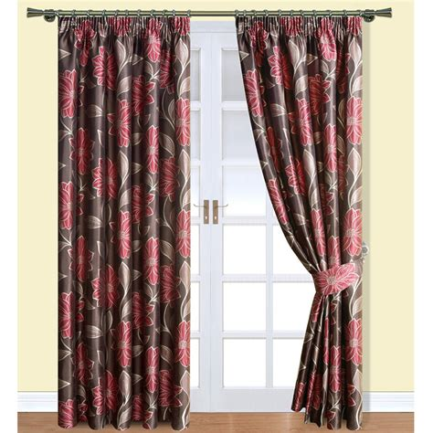 red pleated curtains matching curtains bedspread and awesome wallpaper matching
