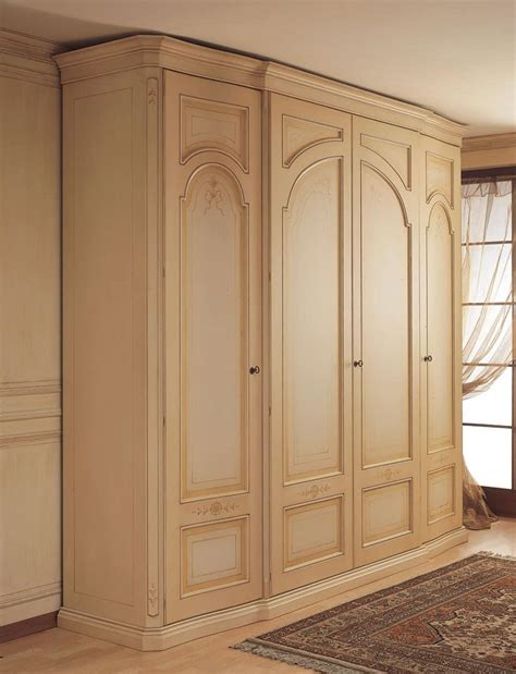 wardrobe with curved side doors for classical bedroom